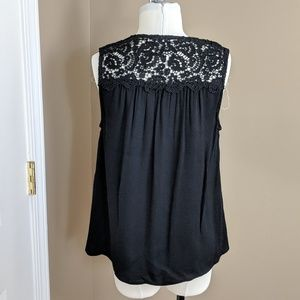 Joie Tops - $188 Joie Lace Detail Tank Perfect Layering Black